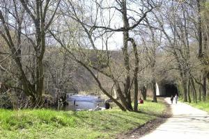 bike path-river trail