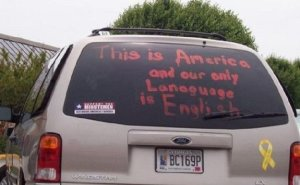 whoops! Van proves English IS a difficult language.