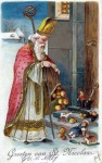 Bishop Nicolas giving treats